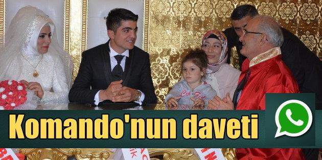 Komando çavuş, Başkan'ı Whatsapp'tan düğüne davet etti