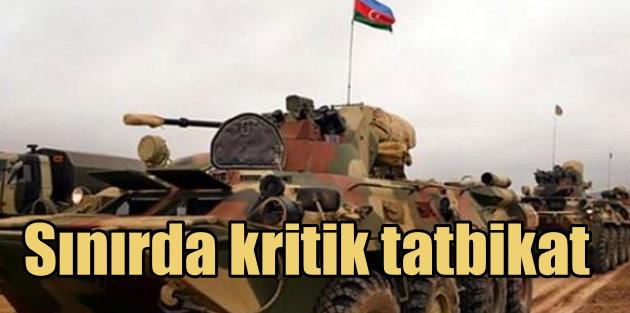 Azerbaycan ordusuna ait tanklar Karabağ sınırında