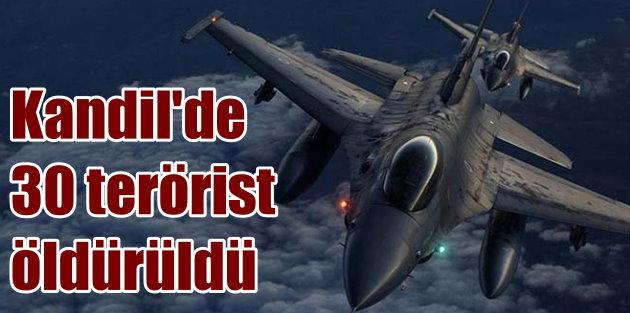 Kandil operasyonunda 11 hedef vuruldu, 30 terörist öldürüldü