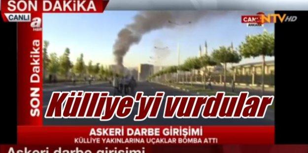 Askeri Darbe girişimi: Cumhurbaşkanlığı sarayı bombalandı