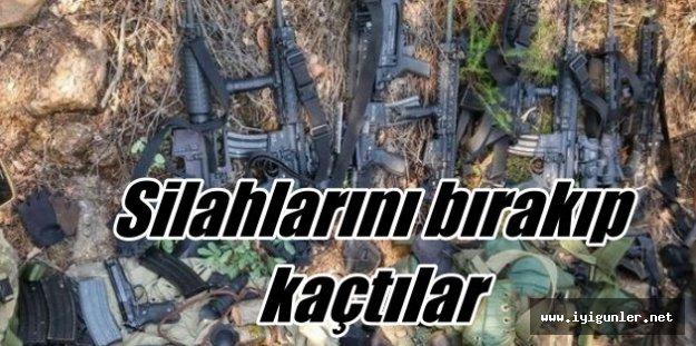 Darbeciler silahlarını bırakıp ormana kaçtı