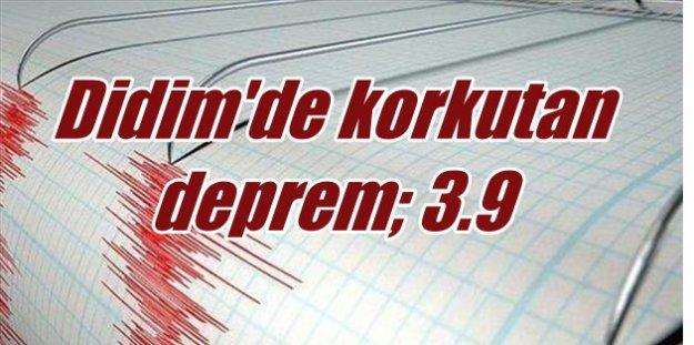 Didim'de deprem, Didim 3.9 ile sallandı