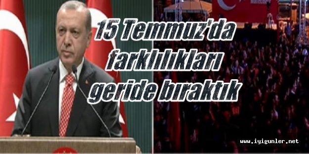 Erdoğan: 123'ü general 5 bin 863 kişi tutuklandı...