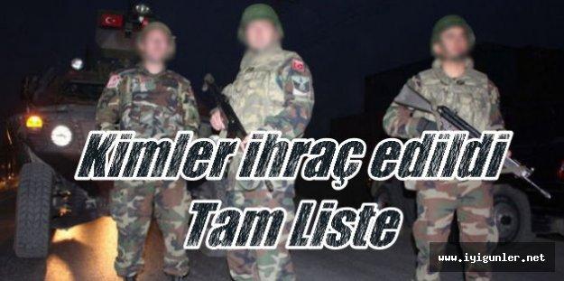 Flaş, FLaş, Flaş, Darbe sonrası ordudan atılanların tam listesi