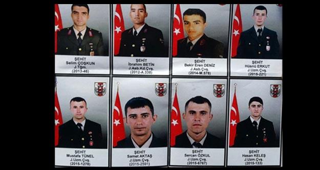 Hakkari'de şehit düşen askerler kim, isimleri ve memleketleri