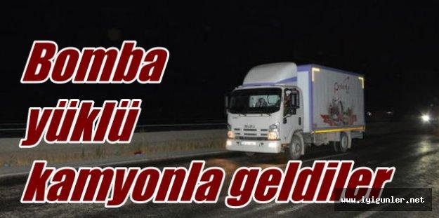 PKK'nın bomba yüklü kamyonu imha edildi