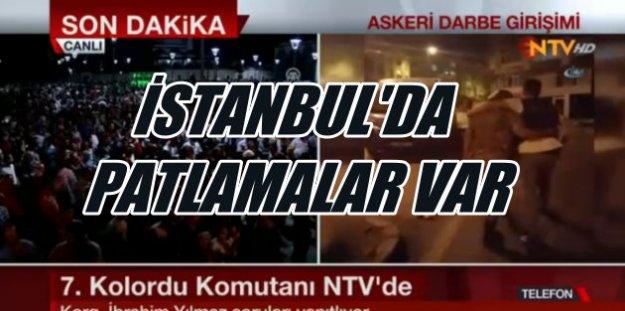 Son Dakika Askeri Darbe; İstanbulda sanki savaş var