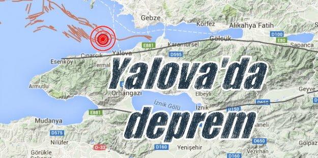 Yalova'da deprem, Son dakika deprem, Yalova 4.0 ile sallandı