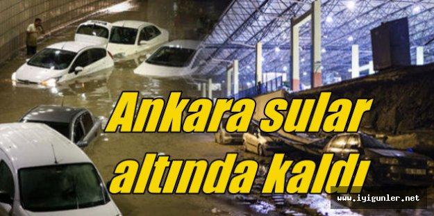 Ankara'da yağmur yolları vurdu, evleri bastı