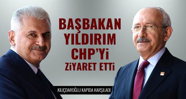 Başbakan'dan CHP'ye ziyaret