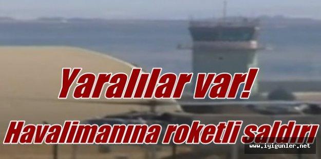 Diyarbakır Havalimanı'na roket saldırısı yaralılar var