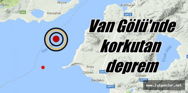 Van'da deprem; Van Gölü'nde deprem korkuttu