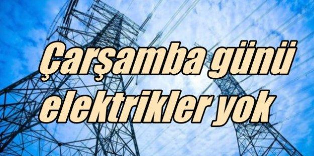 Çarşamba günü Anadolu Yakası'nda elektrik kesintisi var