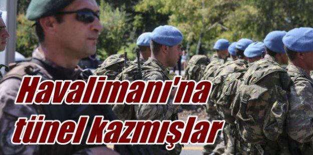 Diyarbakır havalimanına tünel kazarak girmek istemişler