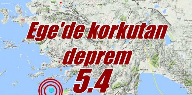 Ege Denizi'nde deprem; Bodrum ve Marmaris sallandı