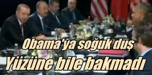 Erdoğan Obama'nın yüzüne bile bakmadı, sırtını döndü gitti