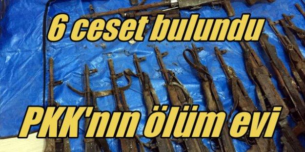 PKK'lı 6 teröristin cesedi evde bulundu