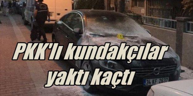 PKK'lı kundakçılar 28 aracı ateşe verdi kaçtı