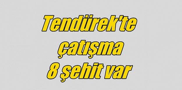 Tendürek'ten acı haber, Van Çaldıran'da çatışma, 4 şehit var