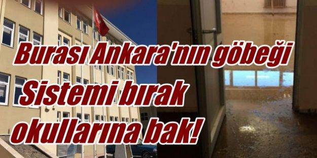 Ankara'da okul skandalı; Çürük binayı lağım bastı
