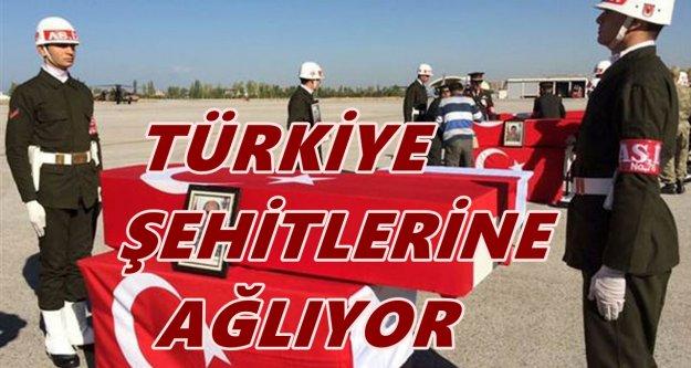 Tüm Türkiye yasta! Şehitlerimizi uğurluyoruz