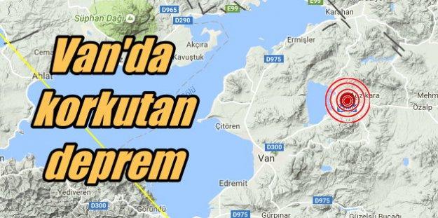 Van'da deprem; Van Çalımlı 4.2 ile sallandı