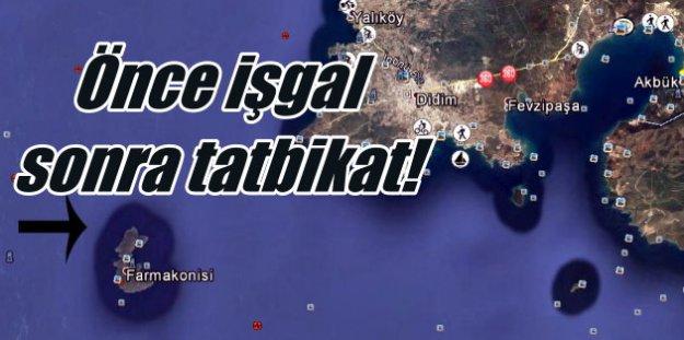 Yunanistan işgal ettiği Türk adasında tatbikat yaptı