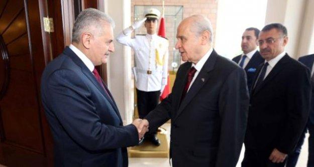 Başbakan ve Bahçeli yeni anayasa için bir araya gelecek