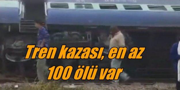 Hindistan'da tren faciası: 100'den fazla ölü var