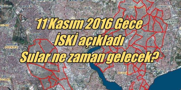 Sular Ne Zaman Gelecek? Bayrampaşa, Kağıthane, Fatih ve Şişli'de sular kesik