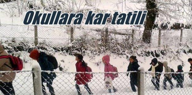 Bartın'da okullar tatil 21 Aralık 2016