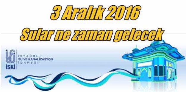Beyeoğlu'nda su kesintisi; Sular ne zaman gelecek 4 Aralık 2016