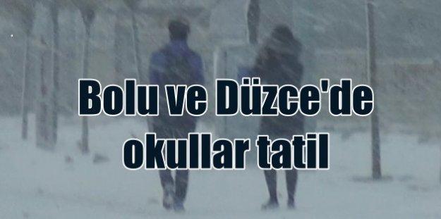 Bolu ve Düzce'de okullar tatil 16 Aralık 2016