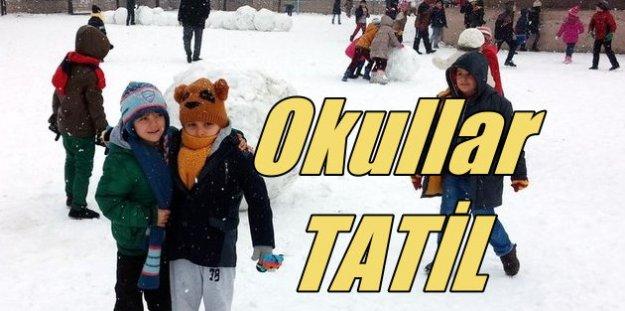 Hangi illerde okullar tatil edildi? Kar tatili olan iller ve ilçeler