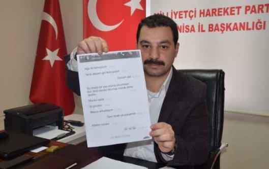 MHP Manisa İl Başkanı Öztürk'ten Kumpas isyanı
