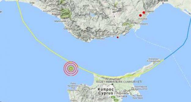 Akdeniz'de deprem, Alanya'da hissedildi