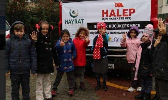 Cemre Okulları'ndan Halep'e yardım