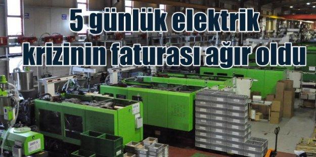 Elektrik kesintilerinin Gebze'ye maliyeti 300 milyon avro