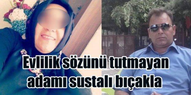 Karısının yanında, sevgilisini sustalı bıçakla öldürdü