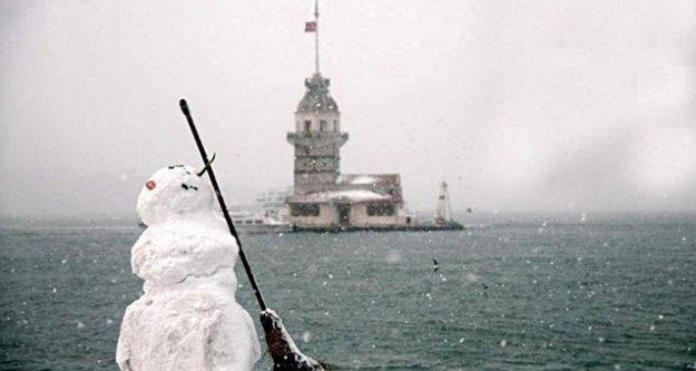 Megakent İstanbul haftaya kar esareti ile başladı
