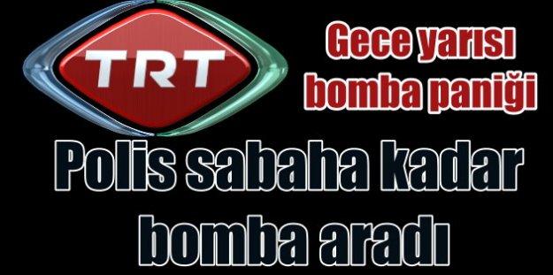 TRT Genel Müdürlük binasında bomba paniği: Arama sabaha kadar sürdü