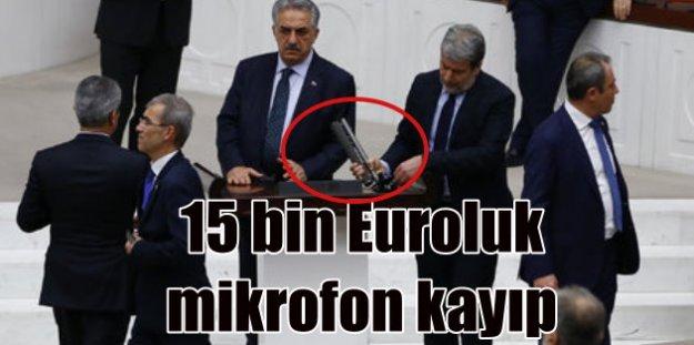 Vekiller 15 bin euroluk mikrofonu sopa olarak kullanmış