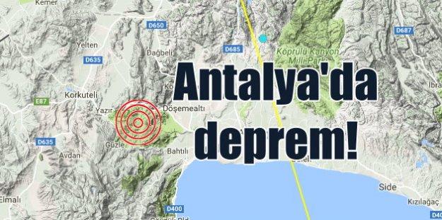 Antalya Korkuteli'nde deprem; Deprem bu kez Antalya'da