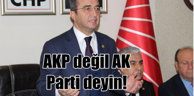 CHP'den AK Parti talimatı: AKP değil AK Parti deyin