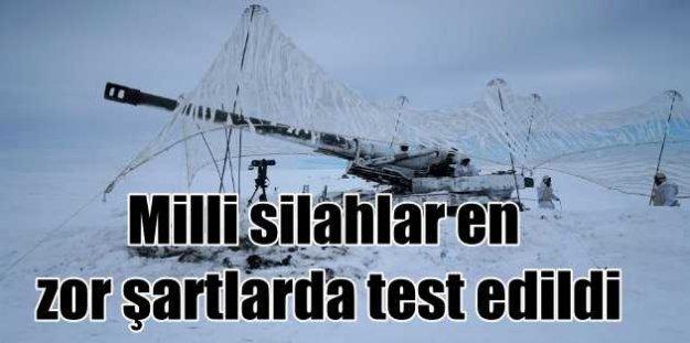 Mehmetçik'ten düşmana kar altında gözdağı: Milli silahlar test edildi
