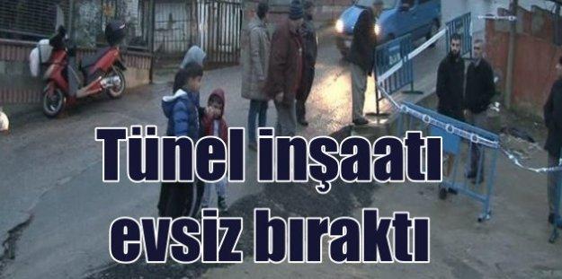 Üsküdar'da tünel inşaatı halkı sokaklara döktü