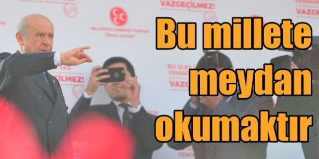 Devlet Bahçeli Bursa'da konuştu; Bu, milletimize meydan okumaktır