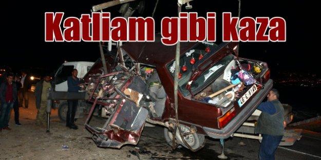 Kahramanmaraş'ta trafik faciası, 5 ölü var