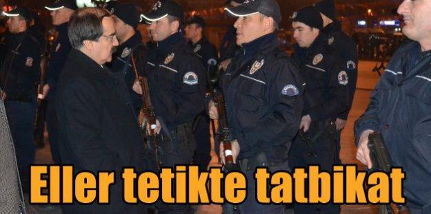 Sakarya'da polisten darbeye girişimine karşı önlem tatbikatı mı?