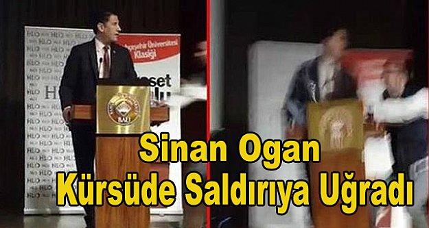 Sinan Ogan'a saldırı